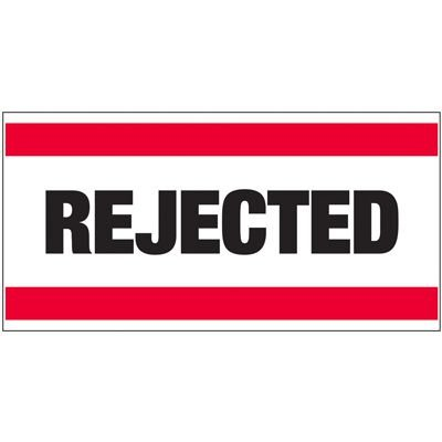Giant Quality Control Wall Sign - Rejected