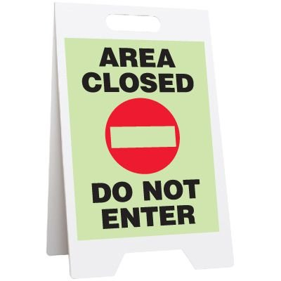 Glow Floor Stands - Area Closed Do Not Enter