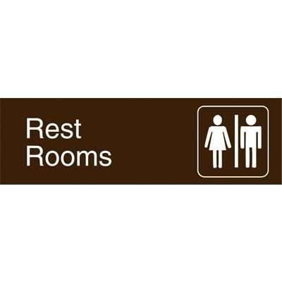 Graphic Architectural Signs - Restrooms