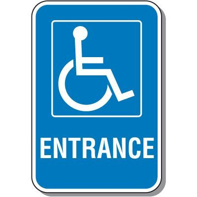 Handicap Signs - Entrance (Symbol of Access)