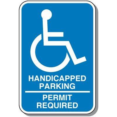 Handicap Signs - Permit Required (Symbol of Access)