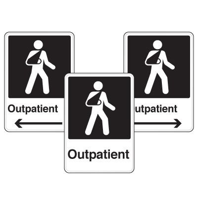 Health Care Facility Wayfinding Signs - Outpatient