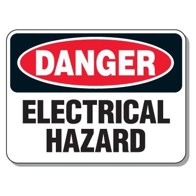 Heavy-Duty Electrical Safety Signs - Danger Electrical Hazard