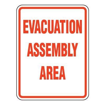 Heavy-Duty Emergency Rescue & Evacuation Signs - Evacuation Assembly Area
