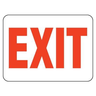 Heavy-Duty Emergency Rescue & Evacuation Signs - Exit