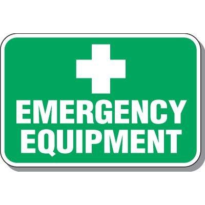 Emergency Equipment Signs