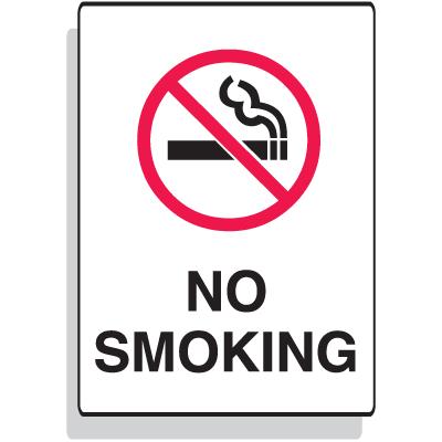 Fiberglass Sign - No Smoking - 7 x 10
