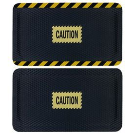Hog Heaven Safety Message Anti-Fatigue Mats - Caution