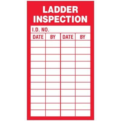 Inspection Record Labels - Ladder Inspection