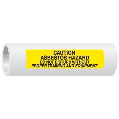 Seton Code™ Caution Asbestos Hazard Insulation Marker