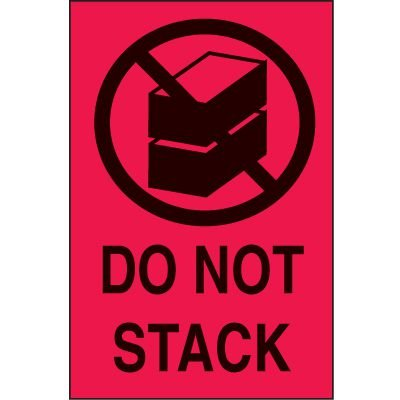 International Shipping Labels-  Do Not Stack