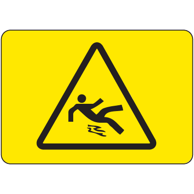 International Symbols Signs - Slippery Surface