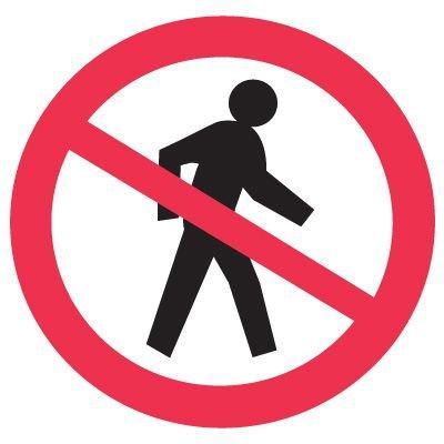 International Symbols Labels - No Pedestrians