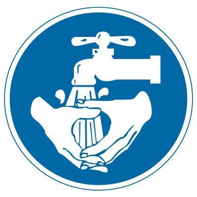 International Symbols Labels - Wash Hands (Graphic)