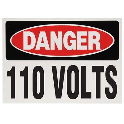Lockout Hazard Warning Labels- Danger 110 Volts