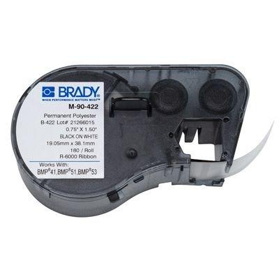Brady M-90-422 BMP51/BMP41 Label Cartridge - Black on White