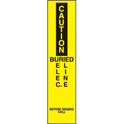 Marking Stake Label - Buried Elec. Line