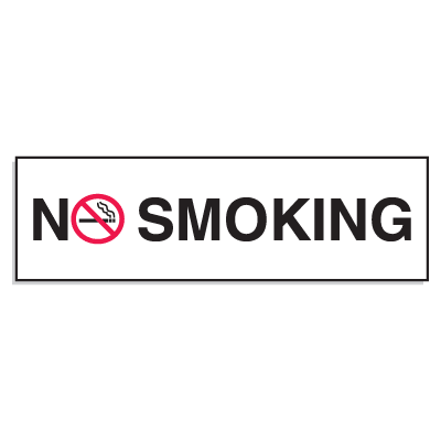Mini No Smoking Signs - 3W x 10H No Smoking (w/Graphic)