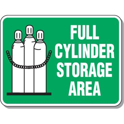 Cylinder Mining Signs - Full Cylinder Storage Area