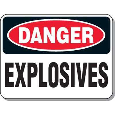 Explosive and Blasting Mining Signs - Danger Explosives
