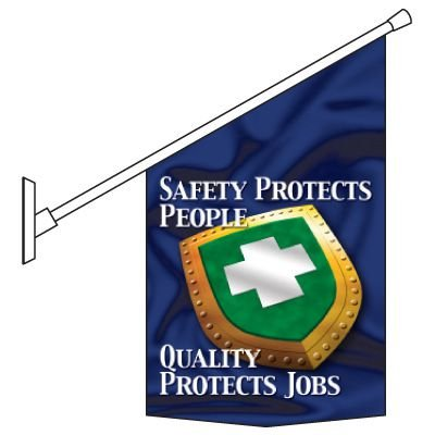 Motivational Pole Banner Kit - Safety Protects People