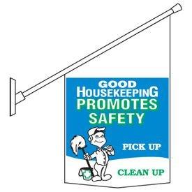 Motivational Pole Banner Kits - Quality & Safety Go Hand In Hand