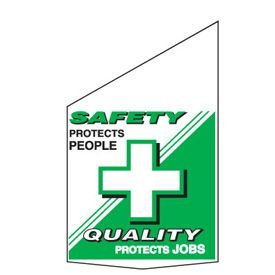 Motivational Pole Banners - Safety Protects People
