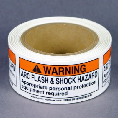 NEC Arc Flash Labels On-A-Roll - Arc Flash & Shock Hazard