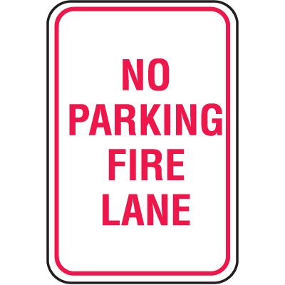 No Parking Signs - No Parking Fire Lane