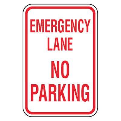 No Parking Signs - Emergency Lane No Parking