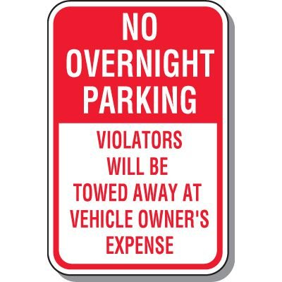 No Parking Signs - No Overnight Parking