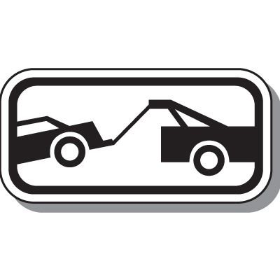 No Parking Signs - Tow-Away Zone Symbol