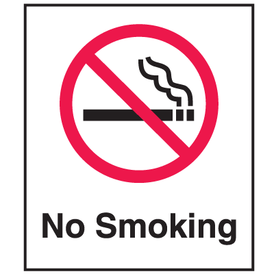 No Smoking Signs -  6x7 w/Graphic