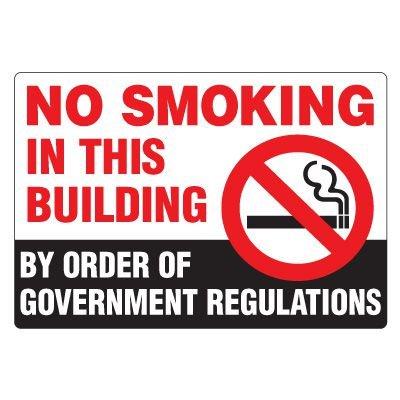 No Smoking Signs - No Smoking In This Building