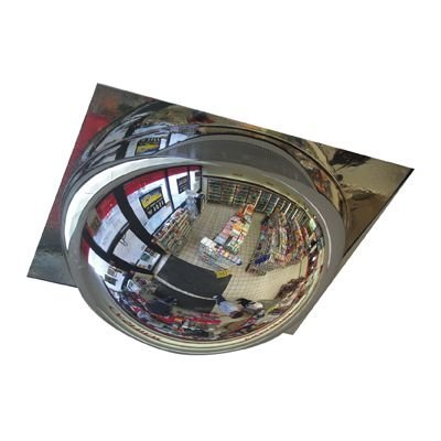 One-Piece T-Bar Drop Full Dome Acrylic Security Mirror