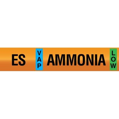 Opti-Code™ Ammonia Pipe Markers - Economizer Suction