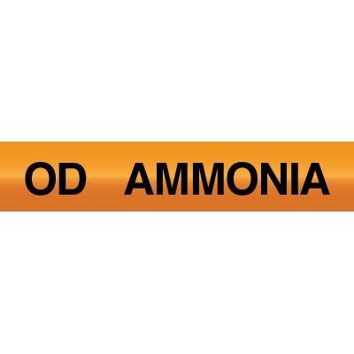 Opti-Code™ Ammonia Pipe Markers - Oil Drain