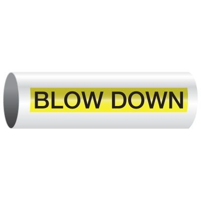 Opti-Code™ Self-Adhesive Pipe Markers - Blow Down