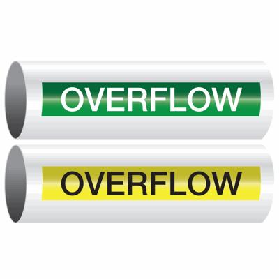 Opti-Code™ Self-Adhesive Pipe Markers - Overflow