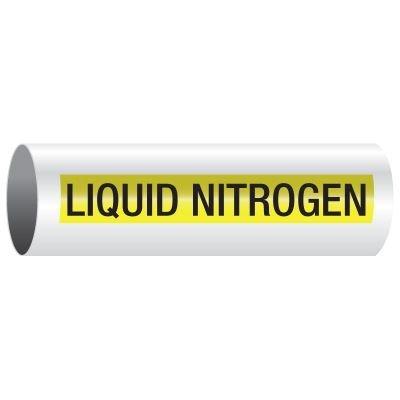 Opti-Code™ Self-Adhesive Pipe Markers - Liquid Nitrogen