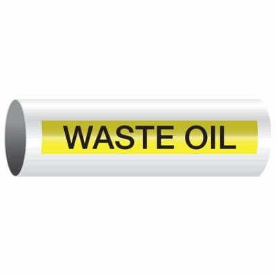 Opti-Code™ Self-Adhesive Pipe Markers - Waste Oil