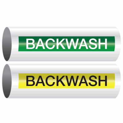 Opti-Code™ Self-Adhesive Pipe Markers - Backwash