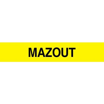 Opti-Code™ Pipe Markers - Mazout