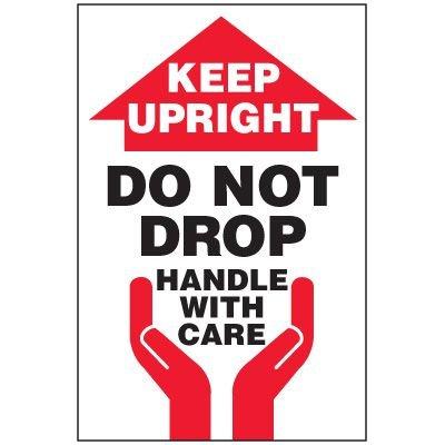 Keep Upright Package Handling Label