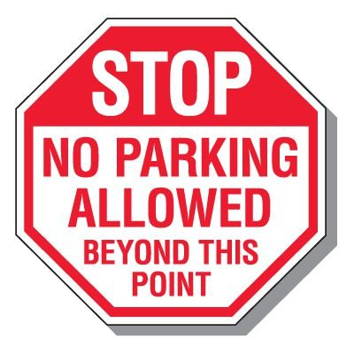 Parking Lot Security & Safety Signs - Stop No Parking