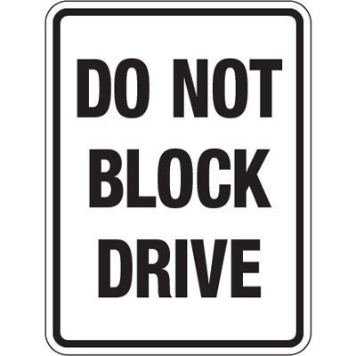 Pavement Message Signs - Do Not Block Drive