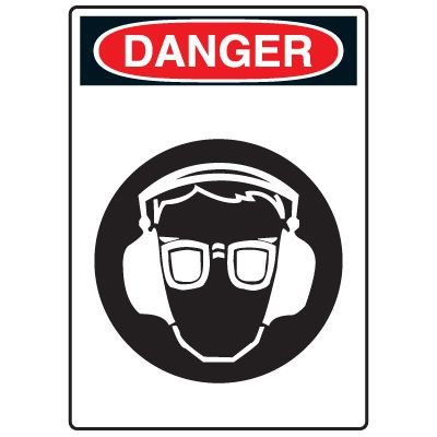 Pictogram Signs - Wear Eye Protection