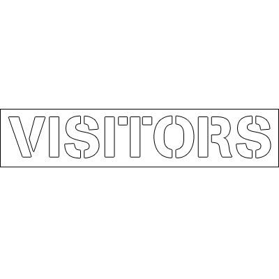 Plastic Word Stencils - Visitors