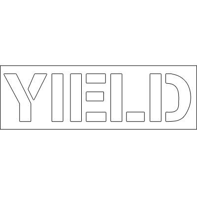 Plastic Word Stencils - Yield