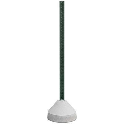 125Lb Concrete Base With 6Ft U-Channel Post